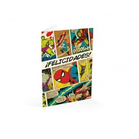 Tarjeta felicitacion ¡felicidades! Marvel comics