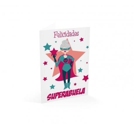 Tarjeta felicitacion ¡felicidades! Superabuela