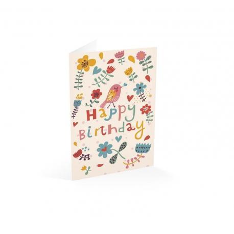 Tarjeta felictacion Happy Birthday