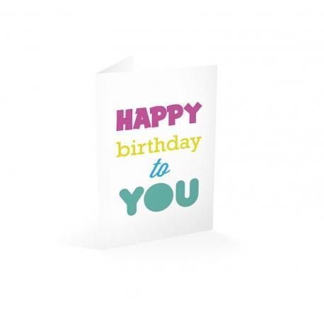 Tarjeta felicitacion Happy birthday to you