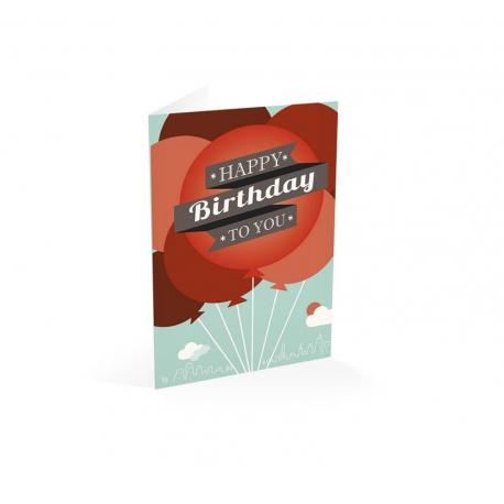 Tarjeta felicitacion Happy birthday