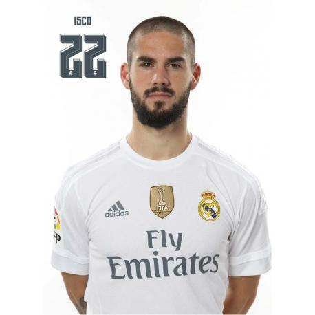 Postal Real Madrid Isco 2015/2016