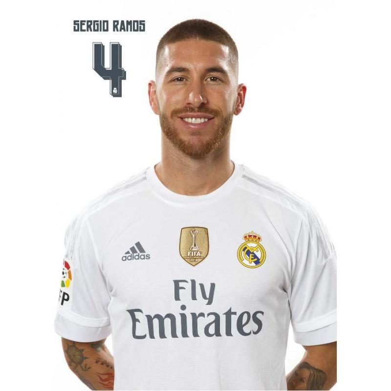 La postal Real Madrid Sergio Ramos 2015/2016 con licencia oficial en ...