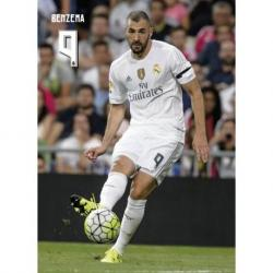 Postal Real Madrid Benzema accion 2015/2016