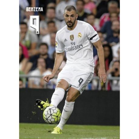 Postal Real Madrid Benzema accion 2015/2016