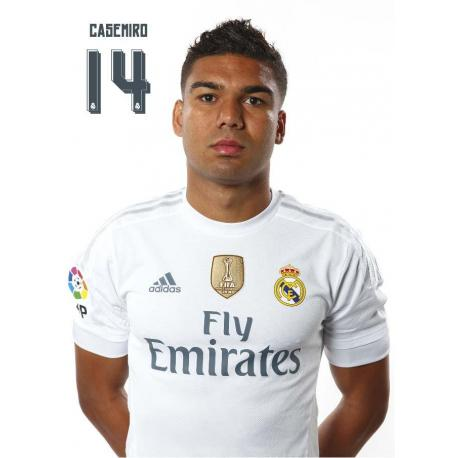 Postal Real Madrid Casemiro 2015/2016