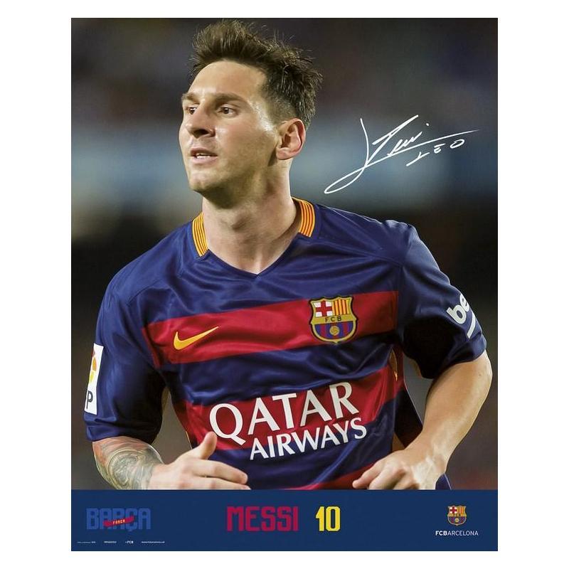 El Mini Poster Fc Barcelona Messi 2015/2016 Con Licencia