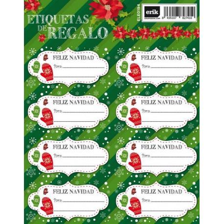 Etiquetas Navidad manoplas