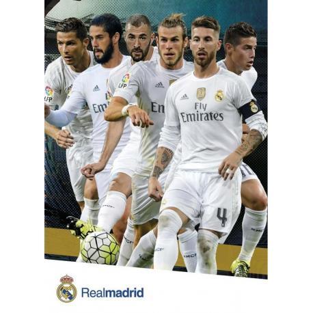 Postal Real Madrid A4 Varios Jugadores 2015/2016