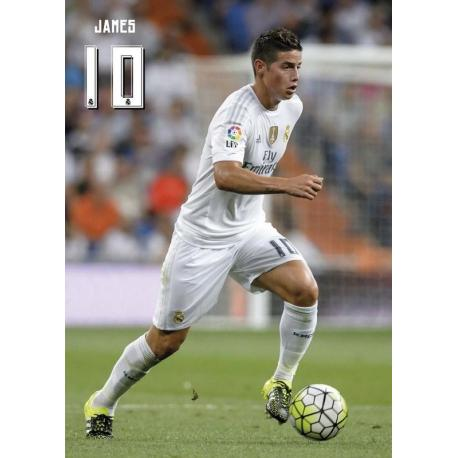 Postal Real Madrid A4 James Rodriguez 2015/2016