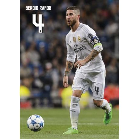 Postal Real Madrid A4 Sergio Ramos 2015/2016
