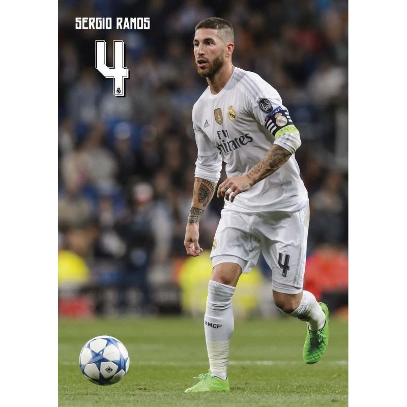 la postal real madrid a4 sergio ramos 2015 2016 con