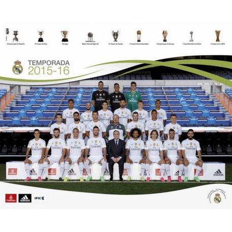 Mini Poster Real Madrid plantilla 2015/2016