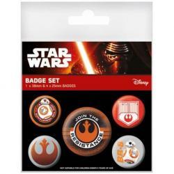 Pack de chapas Star Wars VII resistencia