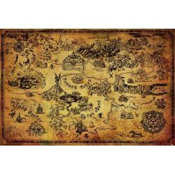 Poster Gamer la leyenda de Zelda mapa