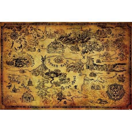 Poster la leyenda de Zelda mapa