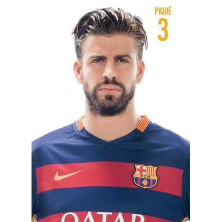 Postal Fc Barcelona Gerard Pique 2015/2016