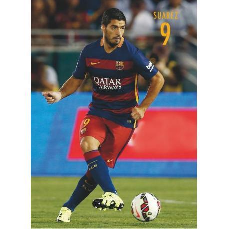 Postal Fc Barcelona Luis Alberto Suarez accion 2015/2016
