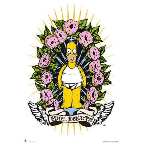 Poster Los Simpsons Donuts