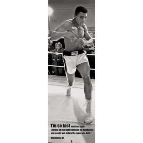 Poster puerta Muhammed Ali