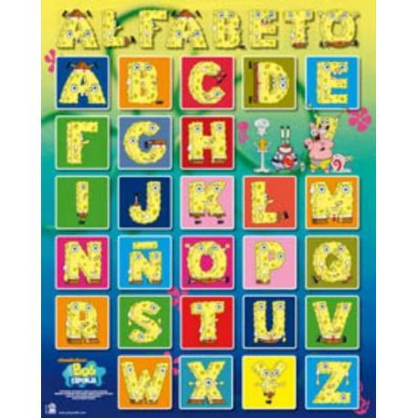Miniposter Bob Esponja Alfabeto