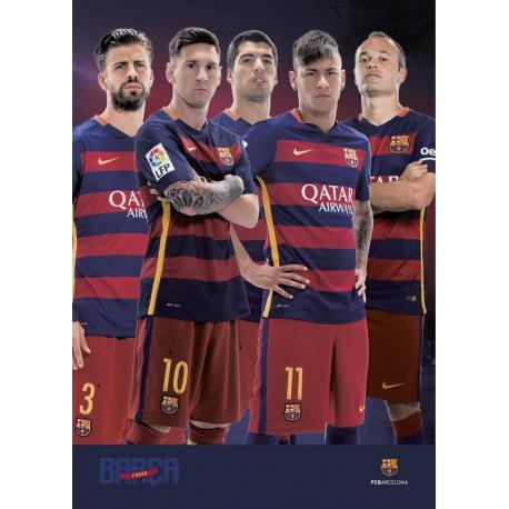 Postal A4 Fc Barcelona varios jugadores 2015/2016