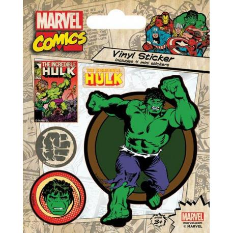 Pegatina vinilo Marvel Retro Hulk