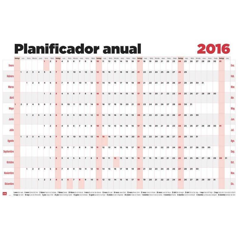 Consigue el poster planificador horizontal con licencia for Planificador habitaciones