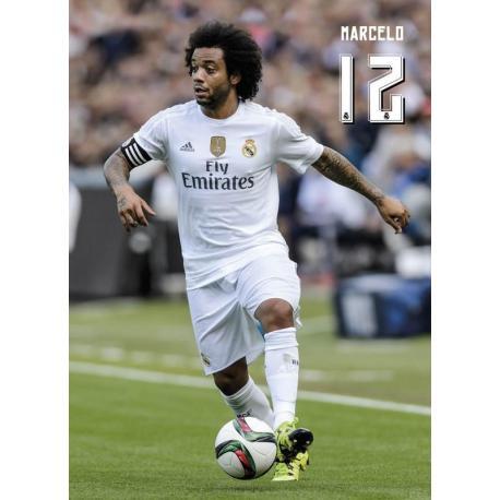 Postal Real Madrid 2015/2016 Marcelo Accion
