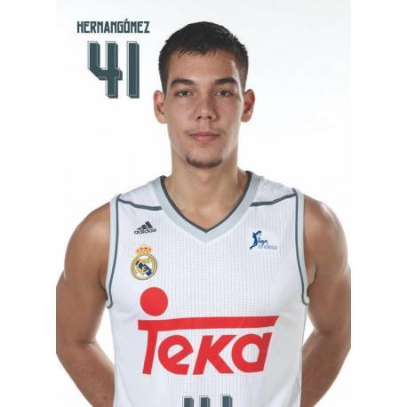 Postal Real Madrid Baloncesto Hernán Gómez 2015/2016