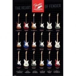 Poster Fender- Stratocaster, The Heart Of F