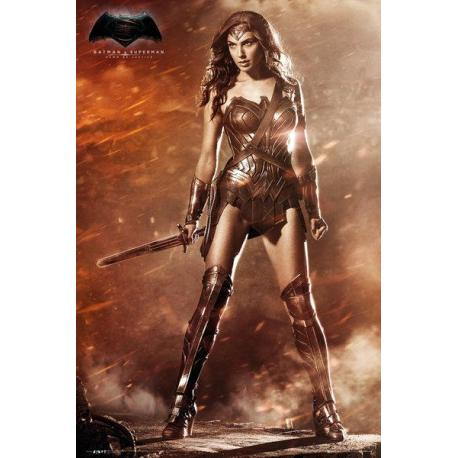 Poster Batman VS Superman Mujer Maravilla
