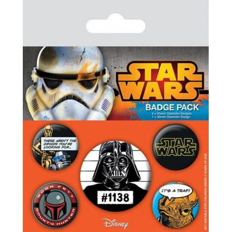 Pack de chapas Star Wars Darth Vader