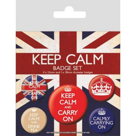 Pack de chapas Keep Calm rebeldes y villanos