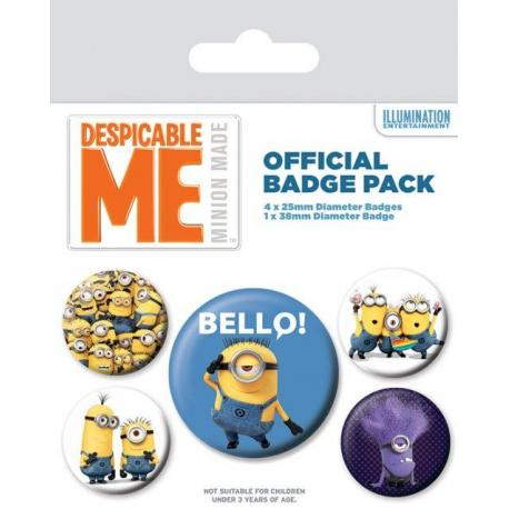 Pack de chapas Minions Despicable me