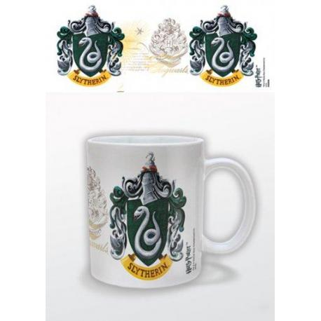 Taza Harry Potter escudo de Slytherin