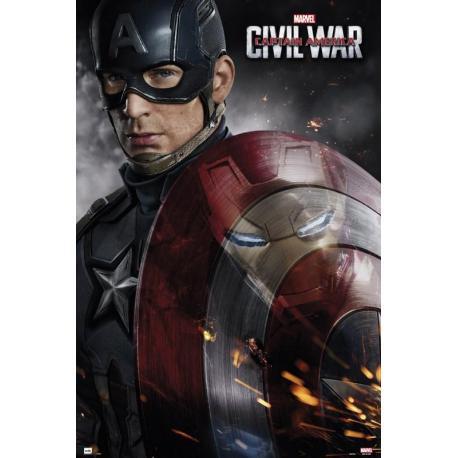Poster Capitan America Guerra Civil one sheet