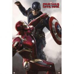Poster Capitan America Guerra Civil Capitan America Vs Iron Man
