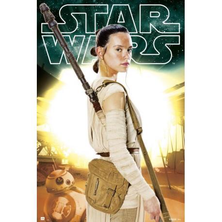 Poster Star Wars VII Rey - Películas y TV
