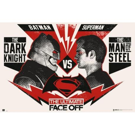 Poster Batman VS Superman el enfrentamiento definitivo