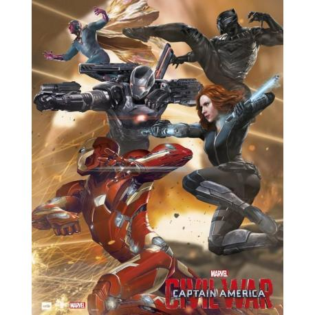 Mini Poster Capitan America Guerra Civil Equipo Iron Man