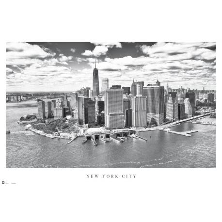 Poster New York City vista aerea