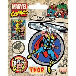 Pegatina Vinilo Marvel Comics (Thor retro)