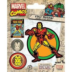 Pegatina Vinilo- Marvel Comics (Iron Man Retro)