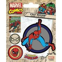 Pegatina Vinilo- Marvel Comics (Spiderman Retro)