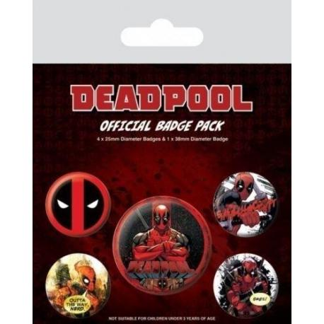 Pack de Chapas Deadpool