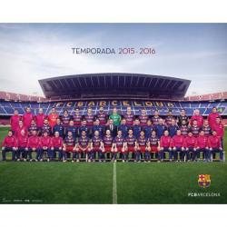 Mini Poster Fc Barcelona 2015/2016 Plantilla