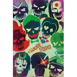 Poster El Escuadron Suicida Caras
