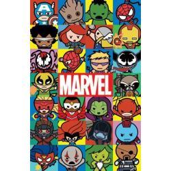 Poster Marvel Kawaii Personajes