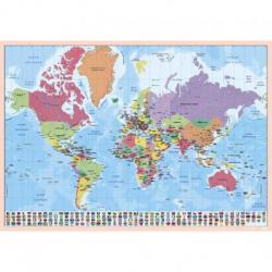 Vade Protector de Escritorio Escolar Mapa Mundo